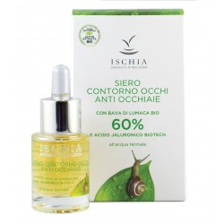 Siero contorno occhi anti occhiaie 60% Bava 15 ml -  Bava di Lumaca Bio e Acido Jaluronico Biotech